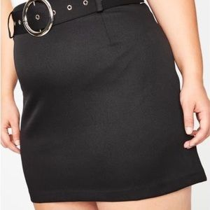 💀 Belted mini skirt 💀